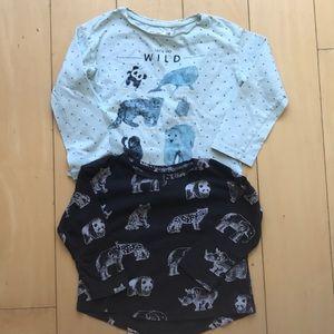2️⃣ H & M WWF animal long sleeve shirts